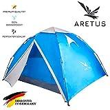 Aretus- 'Eagle Tent' großes Pop Up Wurfzelt 2 3 4 Personen Zelt - mit Vorzelt - Wasserdicht 2 Fach Belüftet - UV-Schutz - Für Camping Festival mit 2 in 1 Funktion