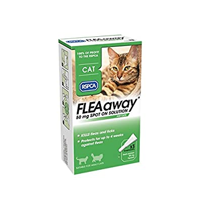 RSPCA FleaAway Spot On Solution for Cats, 50 mg by Zoetis