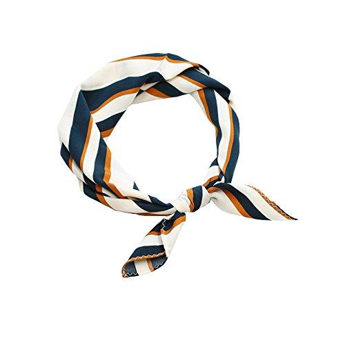 FLYRCX Weiche Vogue Schal Soft Satin Bedruckt Seidenschal 58 cmx 58 cm (En Vogue-haar-zubehör)