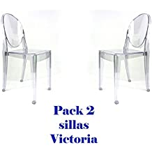 Oui Home - Pack 2 sillas Victoria Ghost Transparentes