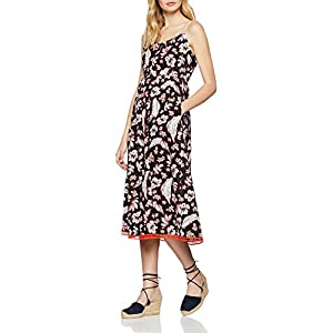 Tommy Hilfiger Petra Dress NS, Vestido para Mujer, (Tropical PRT/Black Beauty 086), 40 (Talla del Fabricante: 38 8)