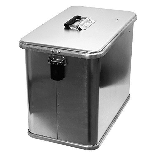 Motorradkiste Transportbox Motorradbox 41 L - C41 Motorradkoffer Kiste Gepäck Koffer Gepäckträger Aluminiumkiste Vollaluminiumbox