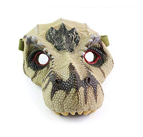 JIAENY Halloween Maske Silikon Kindermasken Tier Dinosaurier Halloween Dinosaurier Masken Karneval Charakter Spaß Streich Festliche Party Requisiten,C (Lustige Tier Kostüm Streiche)