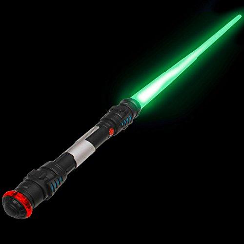 108cm Laserschwert Lichtschwert Laser Sword Schwert mit Licht, Sound & Vibration, Grün - Sound Grün