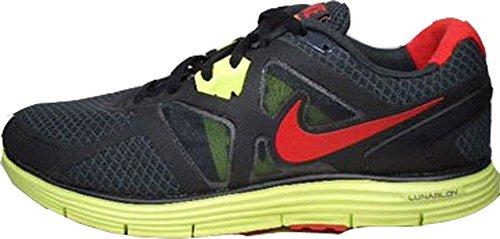 Nike Männer 15 Laufschuhe (Nike Lunarglide+ 3 454164-016 Schwarz-Rot/Gelb Größe Euro 49,5 / US 15 / UK 14)