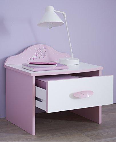 Demeyere-Scrivania-con-1-cassetto-per-bambini-Legno-RosaBianco-431-x-452-x-36-cm