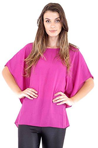 Comfiestyle - Gilet - Kimono - Femme Fuchsia