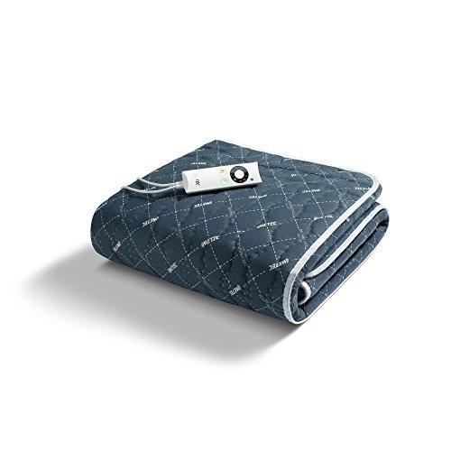 Imetec 16242 Scaldasonno Sensitive Singolo 150x80 cm, Tecnologia Remote, Tessuto Trapuntato, 6 Temperature, Timer di Autospegnimento, Lavabile in Lavatrice, Electro Block di Sicurezza