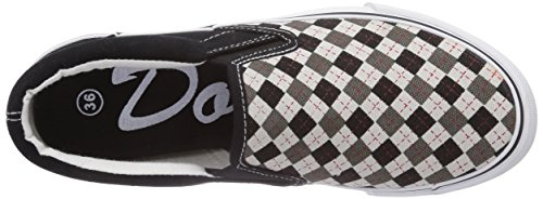 Dockers by Gerli 36CD601-710620 Unisex-Kinder Sneakers Schwarz (schwarz/grau 120)