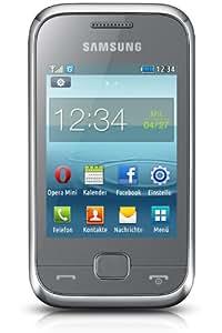 Samsung REX60 Smartphone 7,1 cm (2,8 pouces) Ecran Tactile, Appareil Photo 1,3 Mégapixels, Mémoire Interne 30 Mo, MicroUSB - Argent