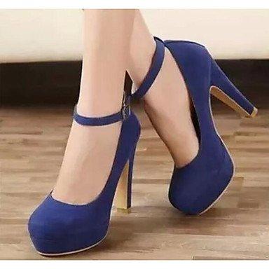Sanmulyh Femmes Chaussures Nubuck Cuir Automne Pompe Printemps Talons Base Pour Casual Bleu Bourgogne Noir Bleu
