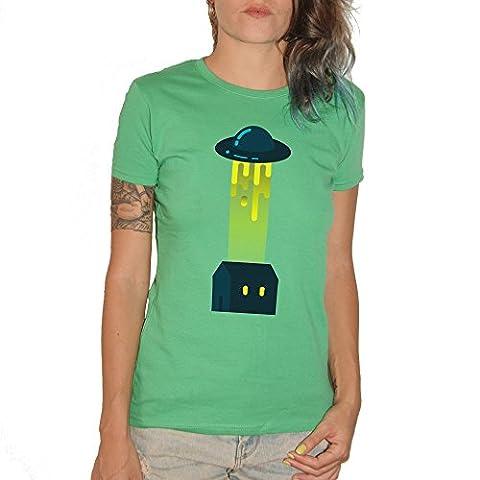 T-shirt UFO–by Brain Factory L Verde Prato