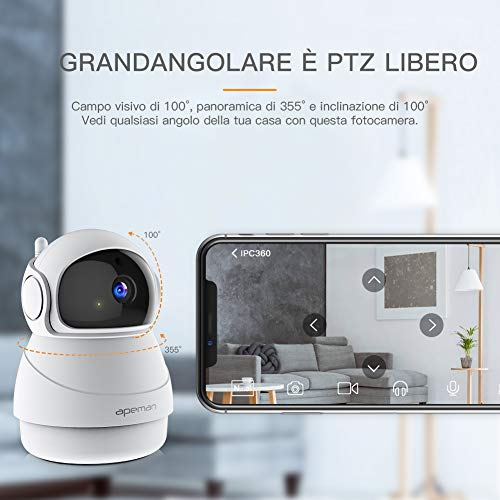 Zoom IMG-2 apeman fhd 1080p telecamera sorveglianza