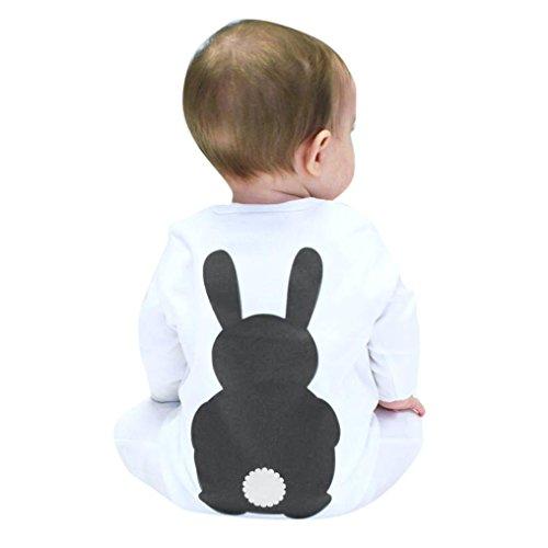 Culater® Neonato ragazze dei neonati svegli di stampa la tuta vestiti lunghi manica (90, Grigio)