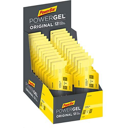 PowerBar Power Gel Original mit Kohlenhydraten, Maltodextrin und Natrium - Energie Gels - Vegan - Vanilla , 24 x 41g