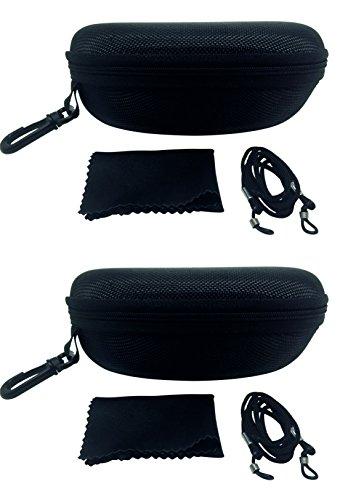 FALINGO Brillenetuis Hardcases XXL schwarz 2 Stück 170 x 80 x 60mm stoßfest