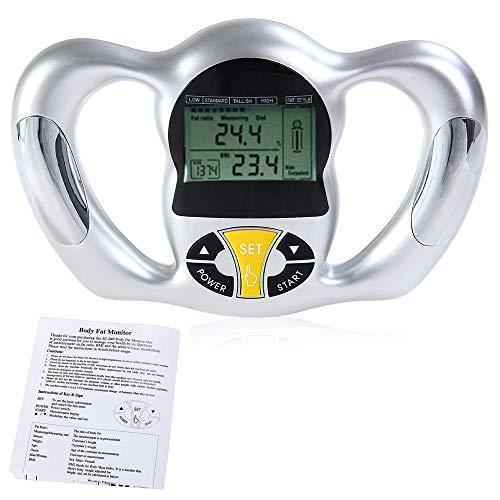 Körperfett-Monitor-Hand tragbares Leichtes stabiles automatisches Bequemes Digital-LCD-Schirm-langlebige Maß-Fette Verhältnis, BMI und KCAL notwendig für Gewicht-Verlust