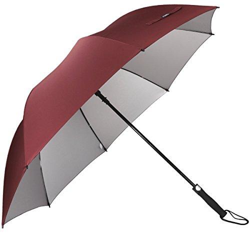 G4Free Grand Parapluie de Golf,Parapluie Grande Taille 60 Pouce Solide - Elegant Parapluie pour Homme Femme