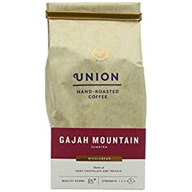Union Hand Roasted Gajah Mountain Sumatra Whole Bean Coffee 200 g (Pack of 2)