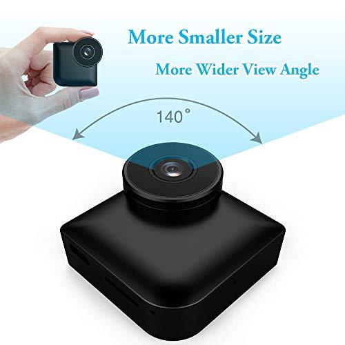 Mini telecamera di sicurezza, mica house 1080p/720p rilevazione del movimento della videocamera portatile senza fili e eersione notturna, videocamera compatta per interni/esterni, 16gb