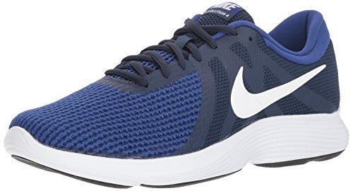 Nike Herren Revolution 4 Laufschuhe, Mehrfarbig (Midnight Navy/White/Deep Royal Blue 414), 43 EU Deep Navy Schuhe
