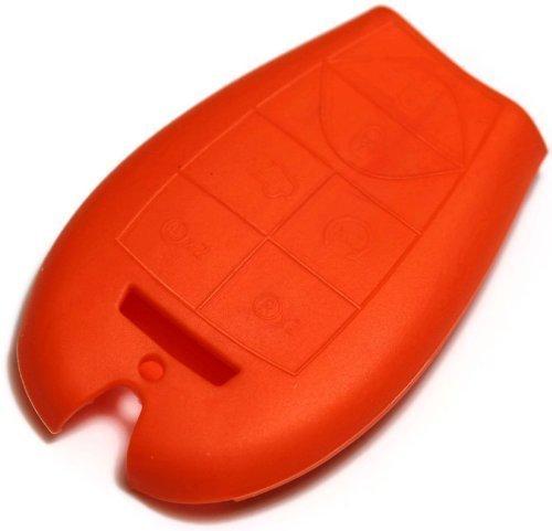 dantegts orange Silikon Schlüsselanhänger Schutzhülle Smart-Fernbedienung Beutel Schutz Schlüssel Kette passend für: DODGE Challenger 09-12 (Challenger Dodge Fernbedienung)