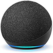 All-new Echo Dot (4th Gen) | Next generation smart speaker with powerful bass and Alexa (Black)