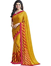 Maiya Saree Women's Designer Georgette Saree With Blouse Piece - B071KL4PP2