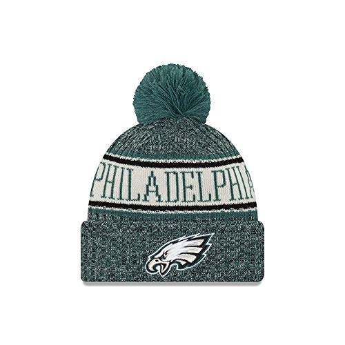 New Era NFL Sideline Bobble Knit 2018 2019 Season Beanie (Philadelphia  Eagles) ad06b9a03