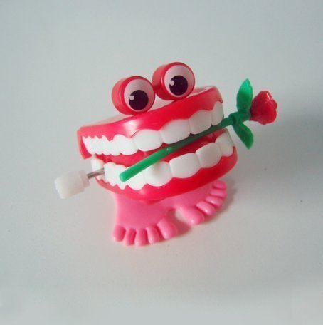 UChic 8 STÜCKE 5 cm Sonderangebot Auf Die Kette Hat Augen Springen Zähne Mund Weihnachtsgeschenk Tier (Hölzernen Zähne Die)