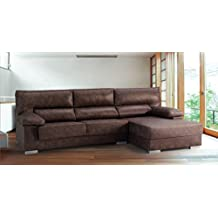 Sofá 2 plazas + chaise longue modelo Izar ,color cordoba 106