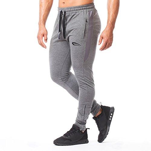 SMILODOX Herren Jogginghose Smooth | Trainingshose für Sport Fitness Gym Training | Sporthose - Jogger Pants - Sweatpants Hosen - Freizeithose Lang Anthrazit