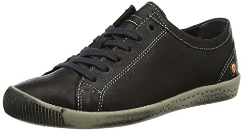 Softinos Damen Isla Low-Top Schwarz (Schwarz)