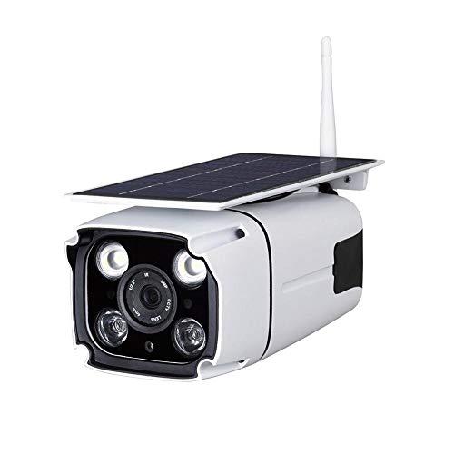 fervory Web-Videokamera - Solarbetriebene Bewegungserkennung Überwachungskamera wasserdichte Outdoor Induktion Wireless Security WiFi IP Fernbedienung Kamera - Web-kamera Im Freien