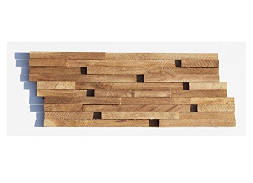 HO-007-1 Holz-Paneele Teakholz 3D Verblender Holzwand Wandverkleidung - Fliesen Lager Verkauf Stein-Mosaik Herne NRW