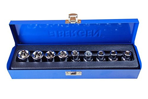 Bergen Ber1130 Set Professionale Da 9 Bussole Torx 1/2'' E