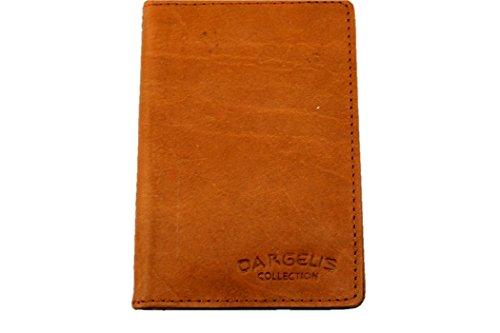 DARGELIS ECHT LEDER KARTENETUI KREDITKARTENETUI VISITENKARTENETUI in 5 Farben (Rust)