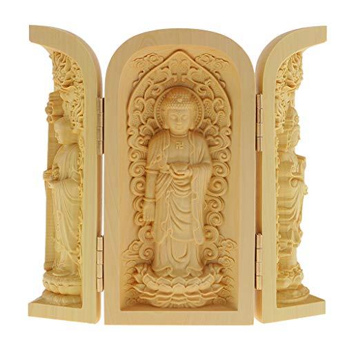 Estatua Buda Tallado Mano Armario Caja Escultura Artesanías