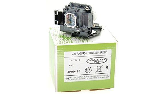 Alda PQ-Premium, Beamerlampe / Ersatzlampe kompatibel mit NP15LP, 60003121 für NEC M230X, M230X+, M260W, M260W+, M260X, M260XC, M260XS, M260XSG, M271W, M271W+ Projektoren, Lampe mit Gehäuse