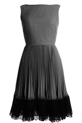 MACloth - Robe - Trapèze - Sans Manche - Femme Gris - Gris