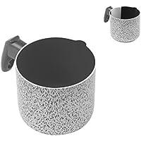 Home Salt Peper - Cazo para Leche, Revestimiento Antiadherente, 10 cm, Aluminio, Color Negro/Gris