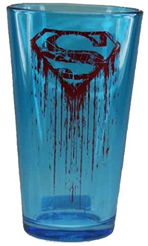 Superman Pint Glass Logo Blood 16 Oz by Classic Imports