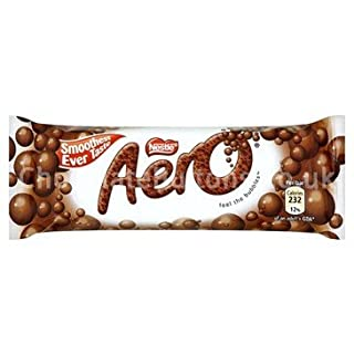 Aero Bubbly Milk Chocolate Medium Bar (box of 36)