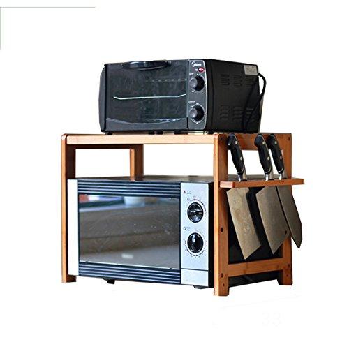 Rangement de cuisine Étagère De Cuisine En Bois, 3 / 2F, Étagère De Rangement En Rack Pour Micro-ondes ( Couleur : 4# , taille : 60 cm )