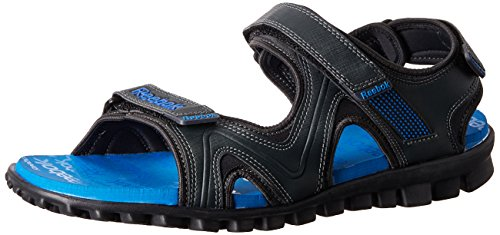 Reebok Men's Reeflex Gravel and Blue Sandals and Floaters - 7 UK/India (40.5 EU) (8 US)
