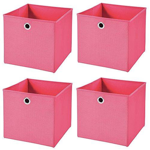 4 Stück Pink Faltbox 32 x 32 x 32 cm Aufbewahrungsbox faltbar