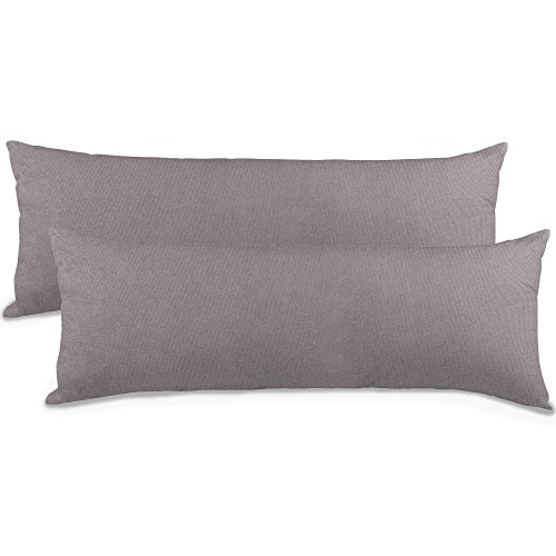 aqua-textil Classic Line Seitenschläferkissen Bezug, 40 x 145 cm, dunkel grau Baumwolle...