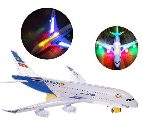 ToyZe® A380 Passagierflugzeug Spielzeugmodell als Kleinkindspielzeug mit Licht und Musik Action Spielzeug ab 3 Jahren