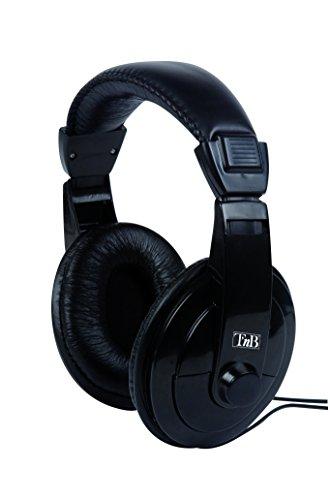 T\'nB Auriculares Diadema HiFi - con Cable Extra Largo de 8 Metros y Control de Volumen, Ideales para la TV