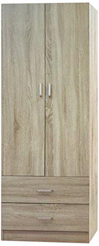 Trendyitalia 12983 armadio 2 ante rovere, legno, beige, 60 x 42 x 180 cm